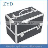 Professional Aluminum Cosmetic Travel Makeup Box, Storage Organizer Case With Tray ZYD-HZMmc022