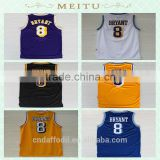 Wholesale Retro Kobe Bryant 8 reversible Basketball Jersey High Quality Embroidery Logos pictures Basketball Jerseys