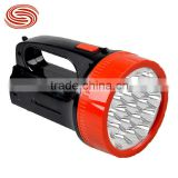 Wholesale and retail outdoor emergency light rechargeable LED flashlight portable lamp searchlight 19ED
