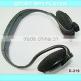 Newest Hot sale Headset TF mp3 Black headset mp3 earphone and headphpone earphone with fm