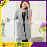 Fashion style round collar machine kintted long wool girl sweater design                                                                         Quality Choice