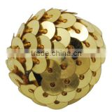 Gold Handmade Woven Wrap Paillette Chunky Beads for Basketball Wives Jewelry(CR178Y-2)