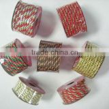 HOT SALE Gift Wrapping Decorations Three Ply Decorative Twisted Cotton Cord, Twist Nylon Ribbon