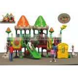 Eco-friendly fairytale-castle style outdoor playground plastic sliding puzzle with 10 optinal sizes