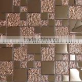 Fico new arrival 2016 GST085-1,glass stone strip mosaic and glass mosaic tile mix crystal glass