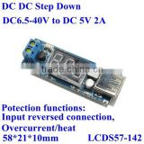 USB battery charger pcb circuit board dc4.5-40v 36v 24v 18v 19v to dc 5v 2a step down buck converter for mobile ,Ipad,MP3,Car