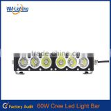 High brightness!!!10w Single Row CRE E led fog light bar led offroad ligh bar 60w led work light for trucks,4x4,tail light