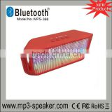 Newest hot pulse bluetooth speaker colorful led lights support u-disck,TF card,Mic hands-free ,audio outdoor speaker