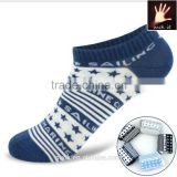 Men Star Pattern Multi-color Sports Socks Invisible Ankle Socks from china custom sock manufacturer