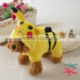 Pokemon go Hot Pet Puppy Dog Coat Pikachu Cosplay Clothes Costumes Cute Clothing for Dogs