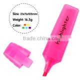 4.2'' flat barrel highlighter pen , chisel tip marker pen