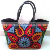 Latest new designs Beautiful Floral embroidered suzani bag