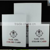 Factory Wholesale White Nail Polish Color Card Box 120 tips Nail Gel Color Card Box