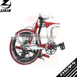 "20"" inch 6061 smooth welding technology aluminum alloy frame 2*8 16 speeds with folding Disc brake bicycle with"