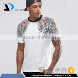 China Mens New Design Custom White Bamboo Logo Black O Neck Printed t-shirts 80% cotton 20% polyester