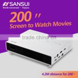 200'' Screen to Watch Movies Short Throw Wide Angle High Brightness LED projector mini
