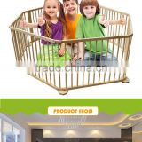 2016Wholesale Cheap Safety Wooden baby playpen mosquito net