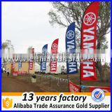 High Quality Custom Printed Logo fiberglass pole polyester outdoor advertising Beach Flag