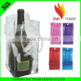 2016 Hot Sales For Promotion PVC plastic shopping bag for wine bottles