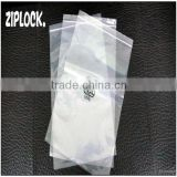 LDPE transparent costomer red line printing ziplock bags with recycle logo