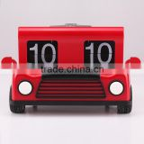 Car Shape Clock Funny Design Home Decor Flip Table Clock