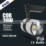 High CRI80 20W LED Track light COB for musemu lighting