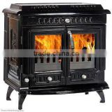enamel wood burning stoves, non-boiler fireplace, double door stove