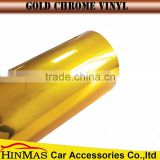 VINYL 1.52*20m/ Gold High quality chrome holographic car vinyl wrap with air bubble free