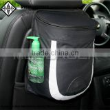 The litter bin stylish car trash bag. It hangs from any car seat and conceals trash
