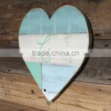 reclaimed wood love heart art sign