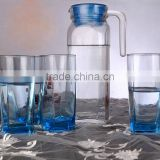 Glass water jug with lid glass water jug set