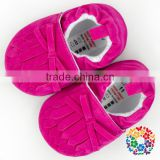 wholesale 100% Handmade suede leather baby shoes soft sole baby moccasins