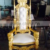 wedding stage bride and groom king throne chair with lions armrest