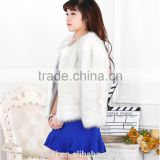 New Women's Faux Fox Fur Beige Gradual Color Black / Coffee Tip Jacket Coat Long Hairy Shaggy Outwear Autumn Winter Tops