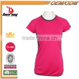 Comfort and Breathable Cotton Summer Woman T-shirt for Sports Fitness