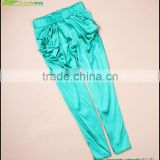 100% silk pants trousers wholesales silk design women colorful trousers design silk harem pants sports trousers GVGX0005
