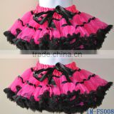 Cute Baby Girls Hot Pink and Black Fluffy Pettiskirt Tutu Skirt Dance Wear Costume IM-FS008