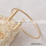 Adjustable fashion gold and silver T bar cuff bracelets minimalist bracelet jewelry