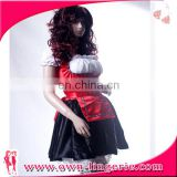 Hot sale classic french maide fancy dress for woman halloween costume