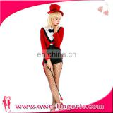 red women sexy professional clown costume