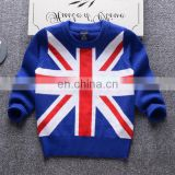 Boys New fashion 100%cotton child sweater for winter