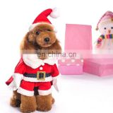 Wholesale Christmas Costume Clothes Santa Claus Suit + 1* Santa Claus Cap Christmas Hat for Dog Cat Pet