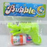 Hot sale plastic toy friction crocodile cartoon bubble gun