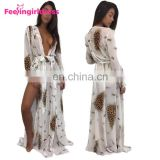 Latest Design Women Swimwear Cover Up Maxi Length Beach Party Dress