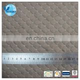 Sofa Fabric Weft Knitted Plain Dyed Double Sided Quilted Air Layer Polyester Cotton Grey Fabric