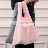 environmental protection Foldingshopping bags Oxford cloth stripes with handle