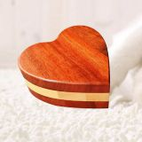 Heart Shaped Two Colors Wood Pet Cremation Ashes Urn Boxes