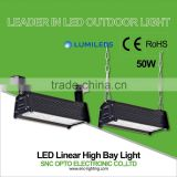 CE/RoHS 50W IP66 warehouse industrial led linear high bay for high rack warehouse lighting
