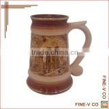 2014 new products, stoneware beer mug, promotion gift, tall cup mug