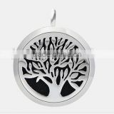Round familytree (30mm) Aromatherapy / Essential Oils Stainless Steel Perfume Diffuser Locket Necklace